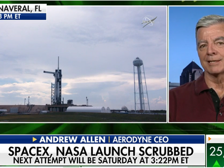 CEO Andy Allen discusses Demo-2 Mission Scrub on Fox Business
