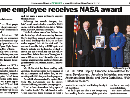 Aerodyne Industries Clifton McCormick to receive NASA's Space Flight Awareness Award