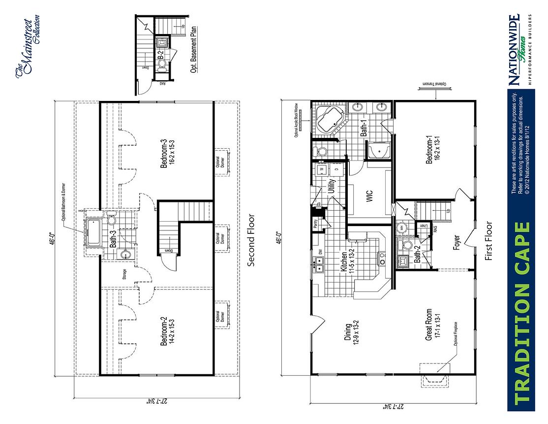 Dameron Companies Tradition Cape Floorplan