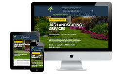 J&G Landscape Service We created this website to promote a new landscape...