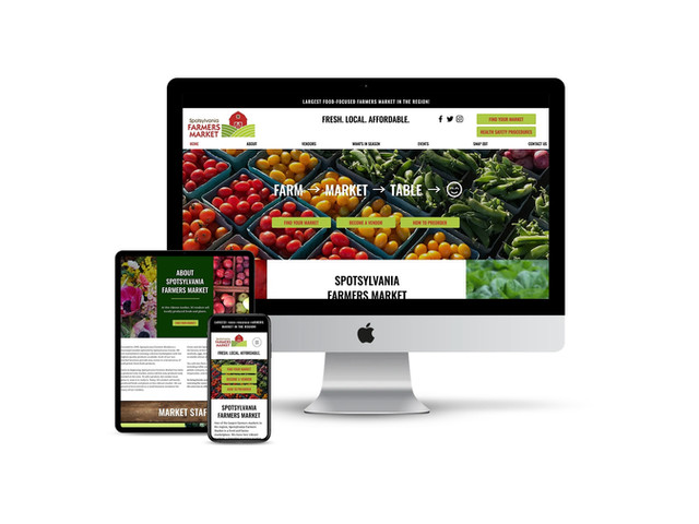 Website Design for Farmers Market