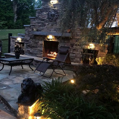 Stamped Concrete Fireplaces by Greystone Masonry