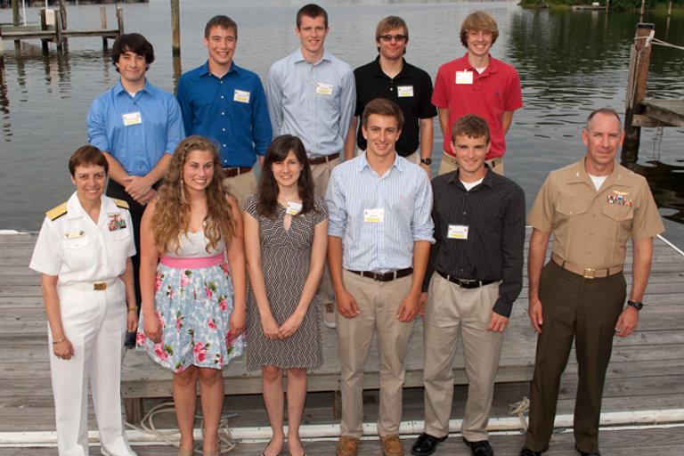 John Glenn Squadron Scholarship recipients