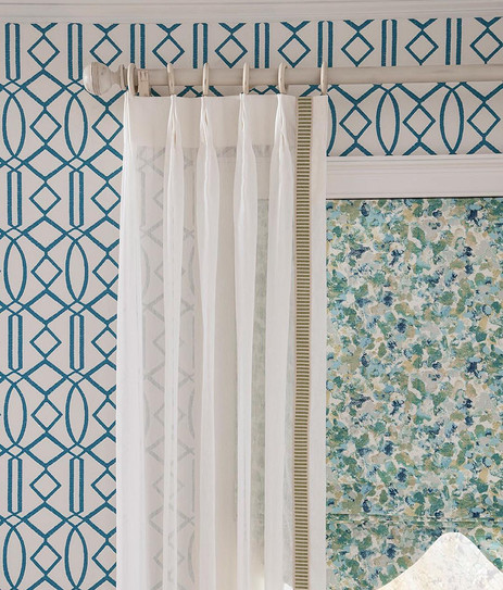 Sheer Panel with Trim