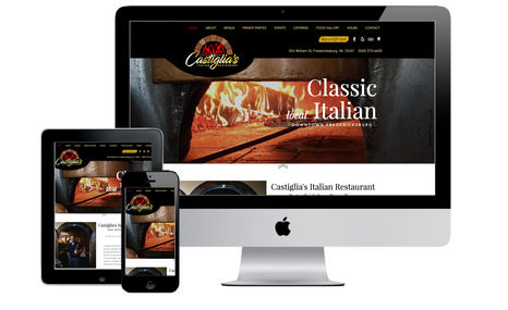 Castiglia's Italian Restaurant This restaurant's unique, open flame brick pizza o...