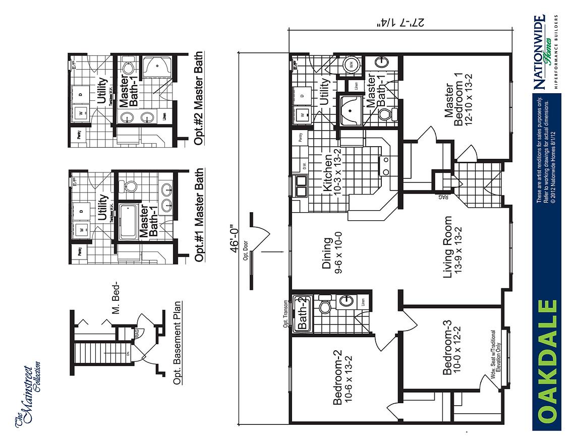 Dameron Companies Oakdale Floorplan