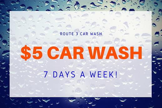 car wash special