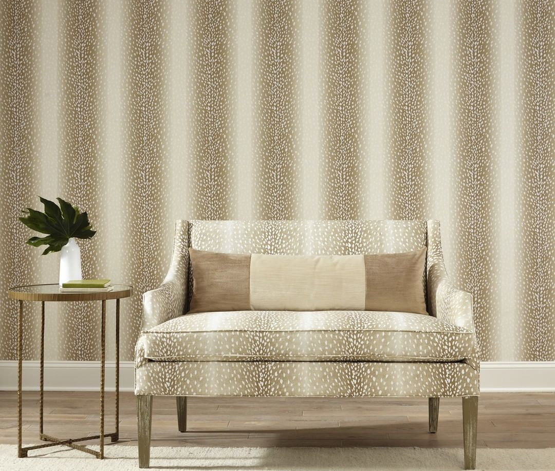 Designer Wallpaper with Matching Fabric