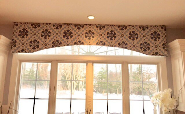 Shaped Cornice for a Kitchen Window