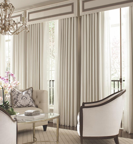 Cornice with Banding and Drapery Panels