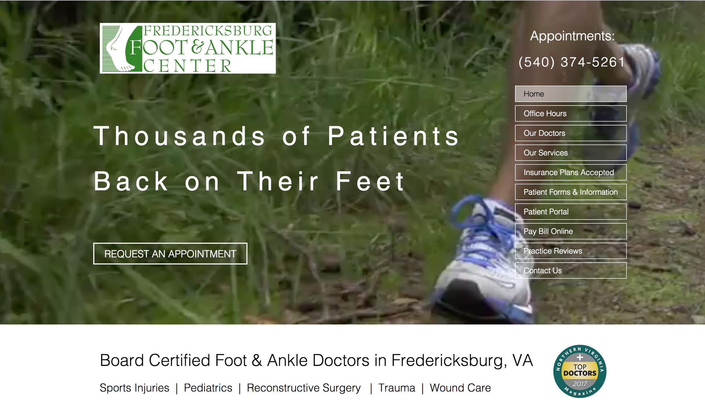 Patient Info   Fredericksburg VA   Fredericksburg Foot