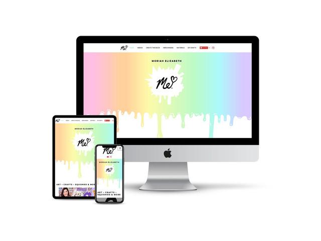 Website Design for Social Media Influencer