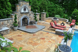 Stamped Concrete Fireplace