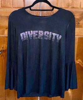 Ladies Fashion Shirt - Black $35