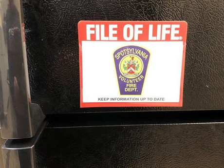 Spotsylvania Volunteer Fire Department Offers File of Life Cards