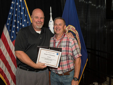 Marshall Space Flight Center Engineer Tim Lovell receives Manager's Commendation
