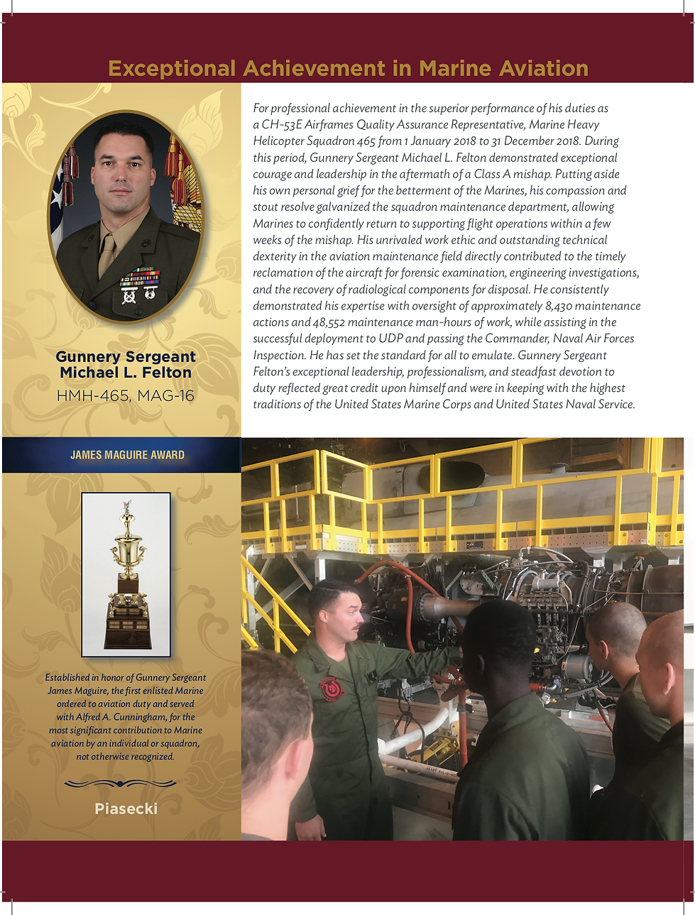 2019 James Maguire Award