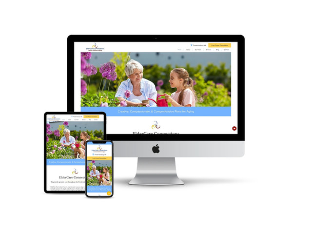 Website Design for Geriatric Care Service