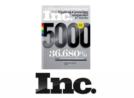 Aerodyne makes Inc. magazine's Annual List of America's Fastest-Growing Private Companies