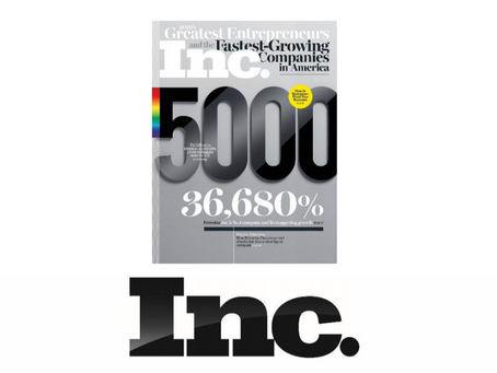 Aerodyne makes Inc. magazine's Annual List of America's Fastest-Growing Private Companies
