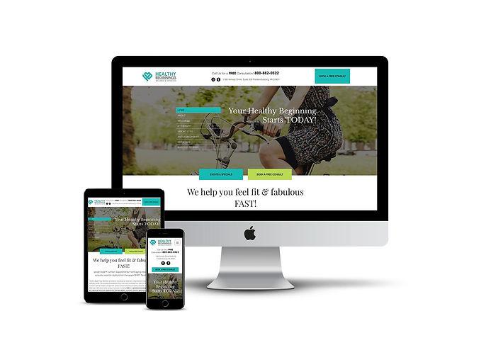 Custom web design for health care