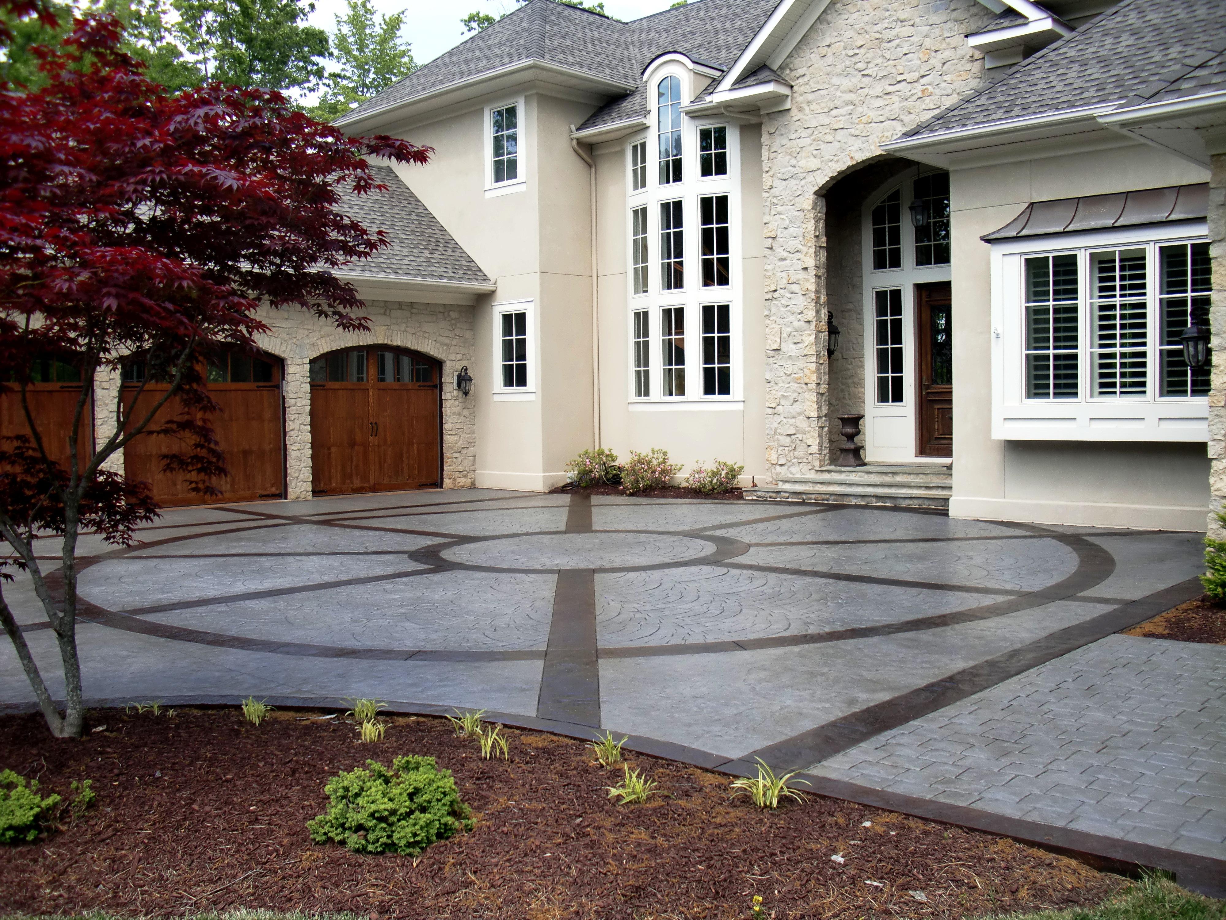 Stamped Concrete Driveway Design