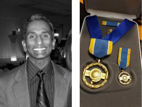 JETS Kanishka deSilva receives NASA's Exceptional Public Service Medal