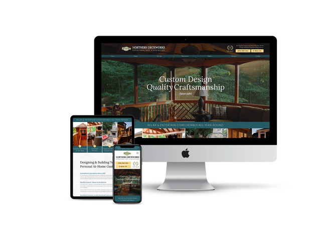 Website Design for Porch & Decking Contractor