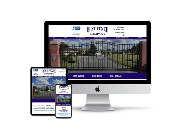 Website Design for Fence Contractor