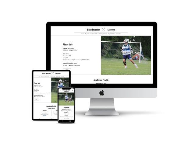 Website Design for College Athlete Recruits