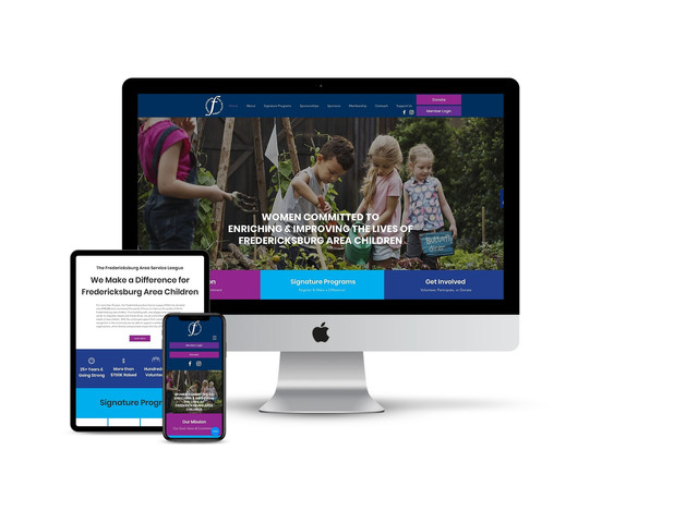 Website Design for Service Organization