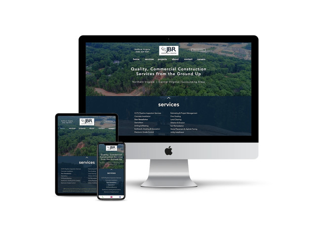 Website Design for Excavation Contractor