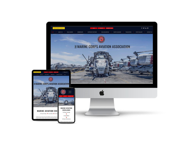 Website Design for Marine Corps Aviation Association