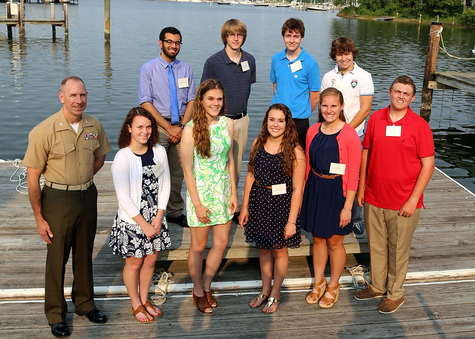 John Glenn Squadron Scholarship recipients