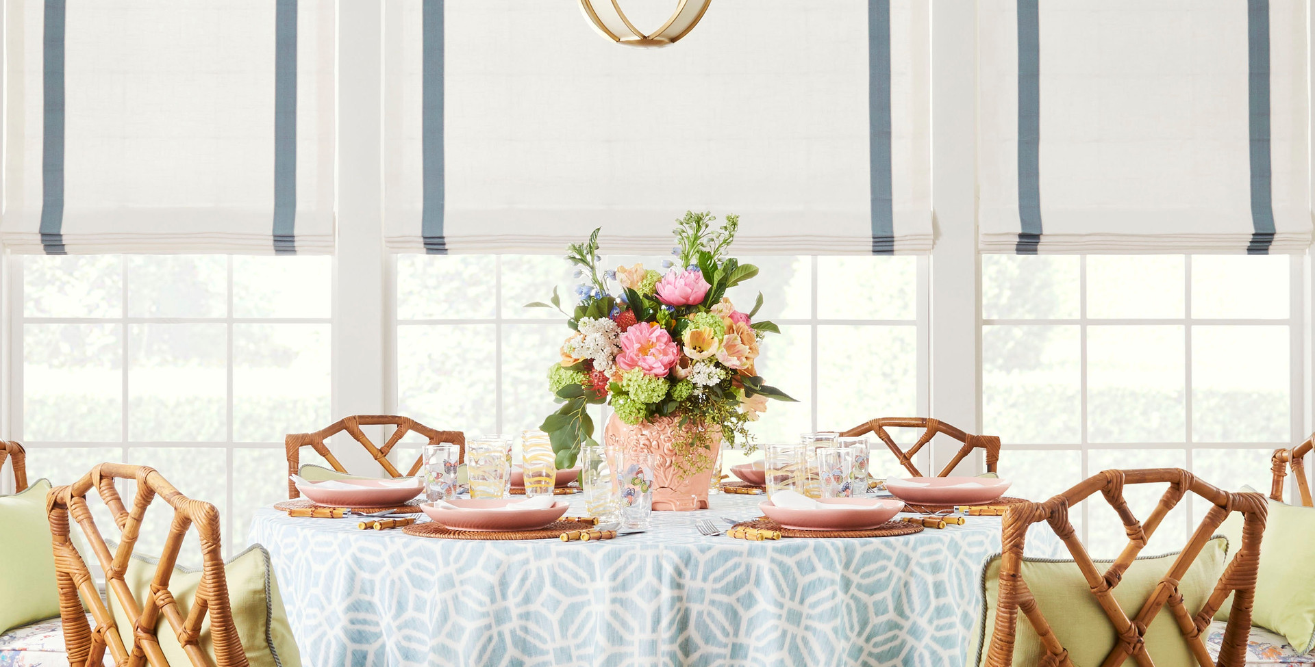 Table Skirt with Banding