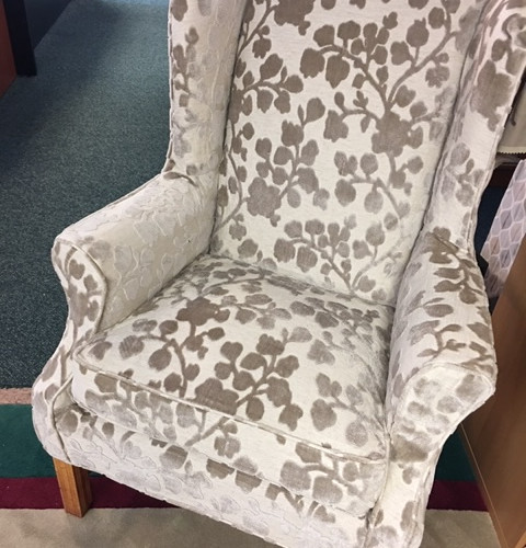 A Slipcovered Wing Chair