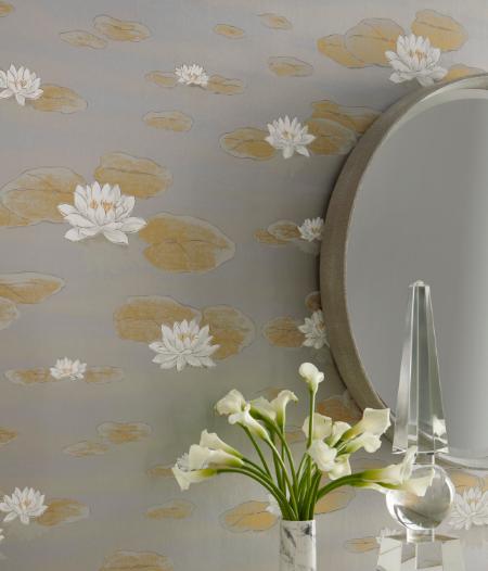 Wallpaper with a Botanical Design. Courtesy of Kravet