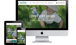 Elevate Hearing Aid Center Custom web design for a local hearing aid center