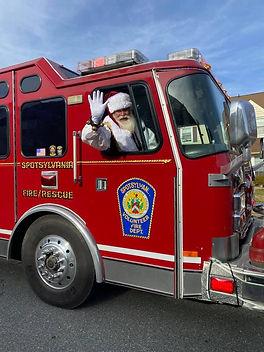 Santa Engine Run Spotsylvania Volunteer Fire Department
