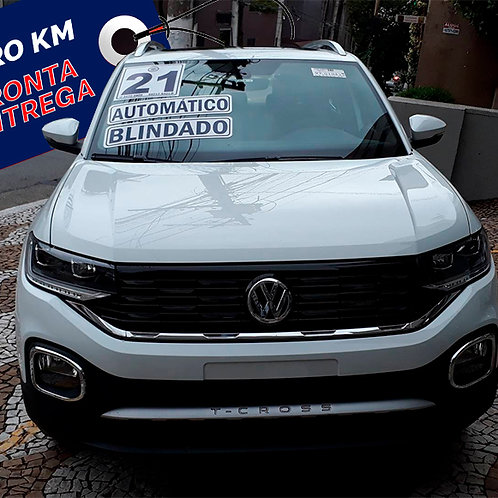 0 km	VOLKSWAGEN T-CROSS 2021 1.4 250 TSI TOTAL FLEX HIGHLINE AUTOMATICO