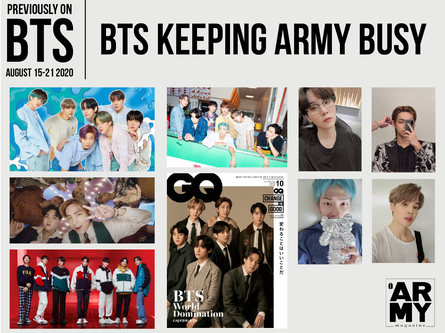 PREVIOUSLY ON BTS: AUGUST 15-21 2020 BTS KEEPING ARMY BUSY
