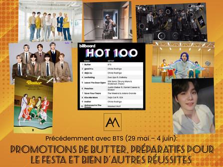 Précédemment avec BTS : 29 mai – 4 juin
