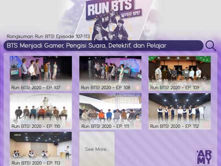 Rangkuman Run BTS! Episode 107-113 BTS Menjadi Gamer, Pengisi Suara, Detektif, dan Pelajar