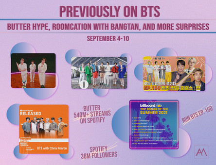 Previously on BTS: Butter Hype, Roomcation with Bangtan, and More Surprises September 4-10