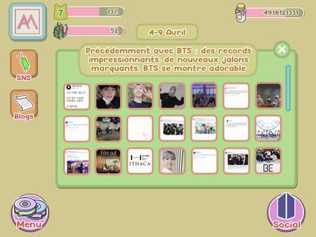 Précédemment avec BTS : 4-9 avril