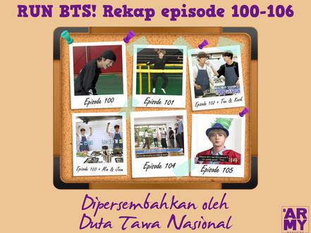 "RUN BTS! Rekap episode 100-106 ""Dipersembahkan oleh Duta Tawa Nasional"""