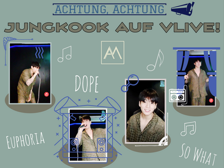 Achtung, Achtung, Jungkook auf VLive!