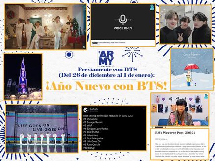 PREVIAMENTE CON BTS: ¡AÑO NUEVO CON BTS! Del 26 de diciembre al 1 de enero