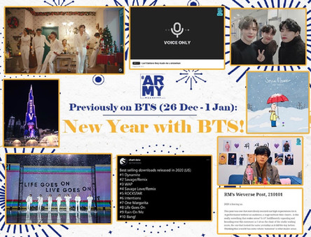 PREVIOUSLY ON BTS: NEW YEAR WITH BTS! 26 December - 1 January