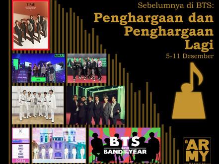 Sebelumnya di BTS: Penghargaan dan Penghargaan Lagi 5-11 Desember